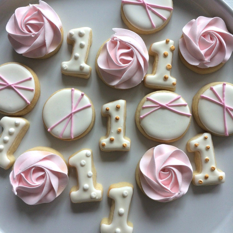 Mini First Birthday Cookies Sugar Cookies