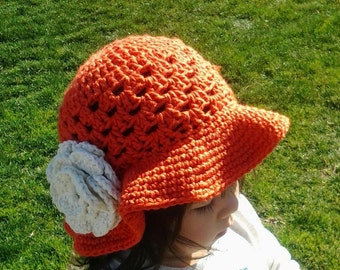 Floppy Brimmed Sunhat with Flower