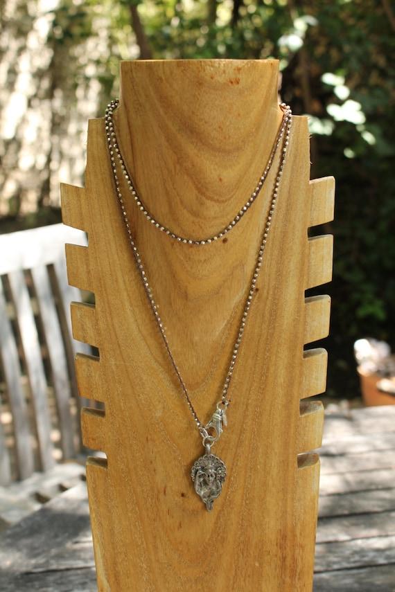 Silver Peacock Pendant