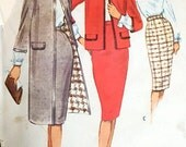 "1960s Vintage Sewing Pattern - Size 14 - 34"" Bust"