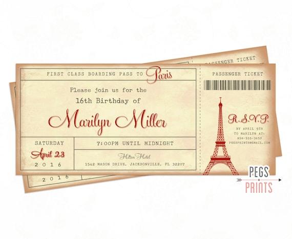 Paris ticket invitation 3x7 paris boarding pass invite paris il570xn filmwisefo