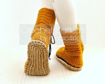 Crochet pattern- toddler lace boots with rope soles,soles pattern included,all kids sizes,laced up,shoes,loafers,footwear,girl,cord,twine
