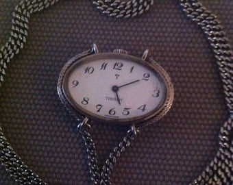 Watch jewel pendant - Brand Tissot - movement mechanics - sterling silver