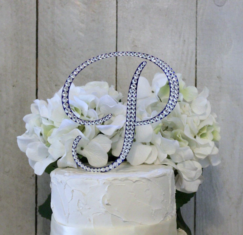 6 Wedding Cake Topper Monogram Wedding Cake Topper