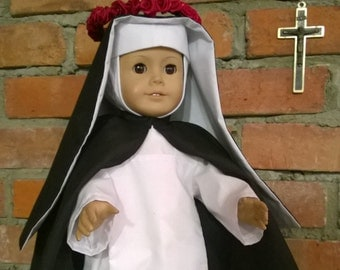 "St. Rose of Lima Catholic Dominican Habit for 18"" dolls - FREE SHIPPING"