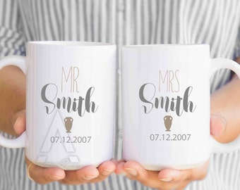 9th anniversary gift, 9th anniversary gifts for men, 9th anniversary gift pottery, gift for him, gift for her, coffee mugs, gift idea MU391