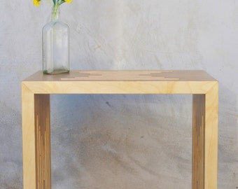 Handmade Birch Plywood Side Table