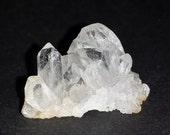 1 Small Clear Quartz Crystal Plates for Pendant or Brooch / Crystal cluster brooch / Crystal Druzy Pin / Quartz crystal / jewelry craft