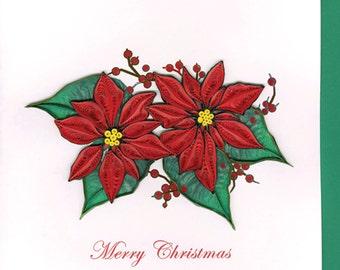 "Poinsettia Christmas (HD629) 6"" x 6"""