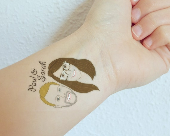 Bridal shower temporary tattoo bridal shower tattoo couple for How to shower with a new tattoo