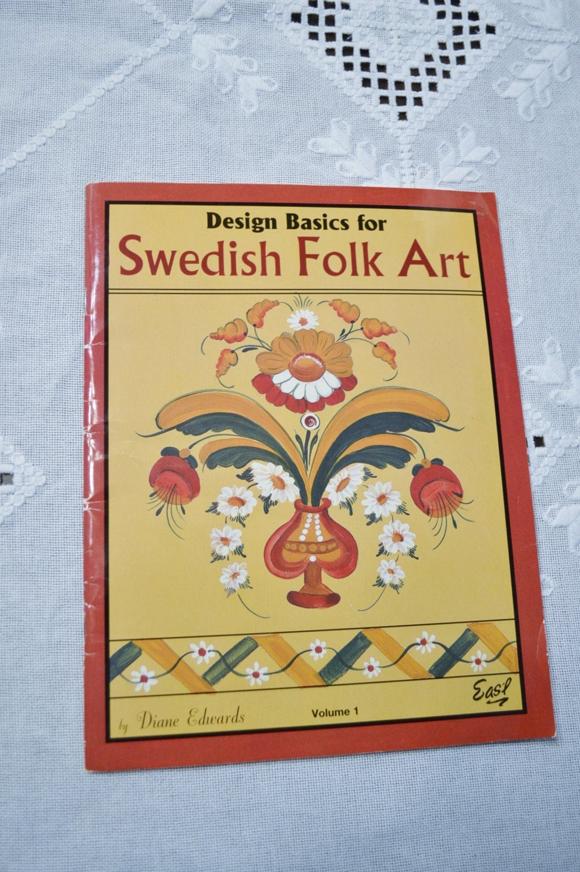 Swedish folk art diane edwards painting book volume 1 craft for Folk art craft paint