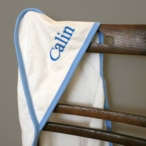 Monogrammed Towel Personalized Hooded Baby Towel By