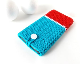 Blue Red Moto G3 phone case, Galaxy s6 case, Xperia z5 pouch, Nexus 5X cozy, iphone 6s sock, BlackBerry cover, OnePlus X sleeve, HTC a9 case