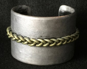 Cuff Bracelet Bangle Boho Polymer Clay Mid Century Modern Jewelry QUEUE by Donna Pellegata ArtCirque