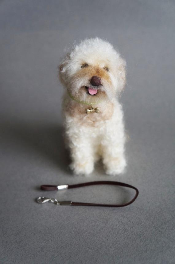 Needle Felted GoldenDoodle, Custom Pet Golden Doodle Portrait, Cockapoo Dog, Replica Puppy Poodle, Stocking Stuffer Cavapoo, Pet Memorial