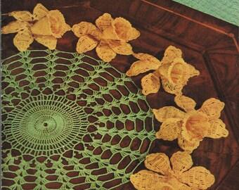 Vintage Doily Crochet Pattern - Floral Doilies  - Vintage Thread Crochet - Clark's JP Coats Book 258
