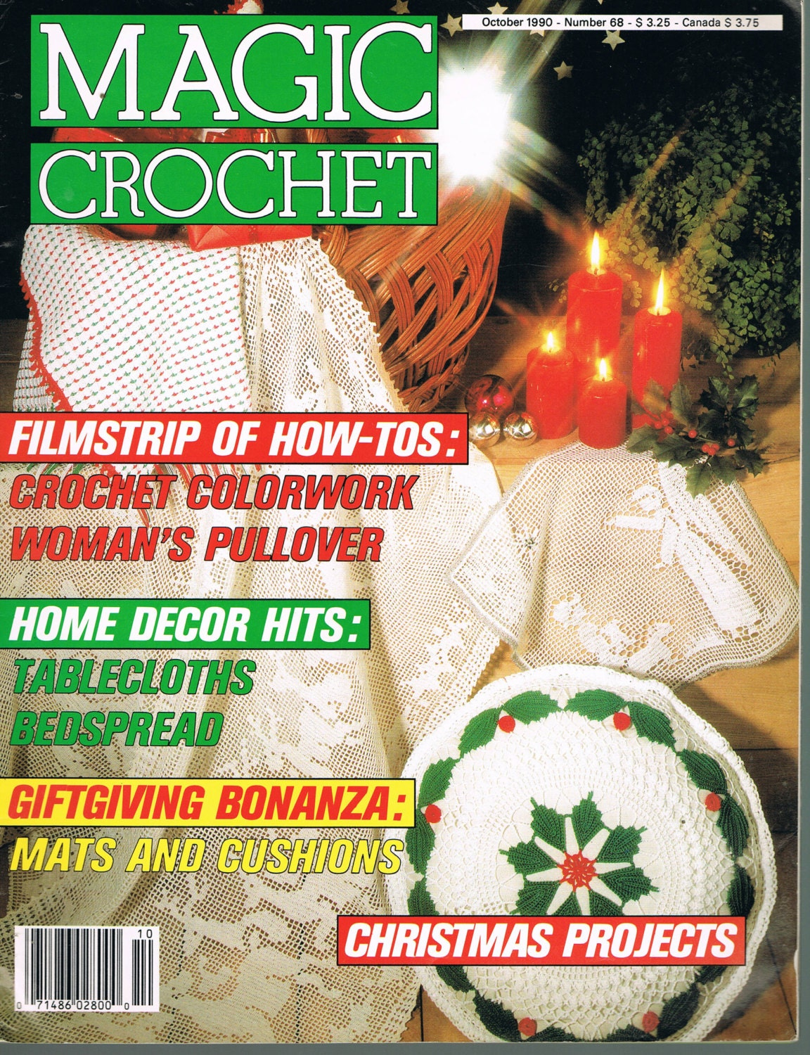 Magic Crochet Magazine : October 1990 Magic Crochet Magazine Doily by BusyBeaverBoutique