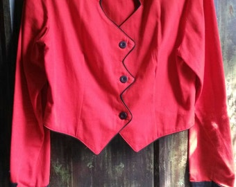 Roughrider Vintage Red and Black Bolero Jacket