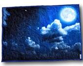 Moon Baby Quilt * Moon Baby Blanket * Moon Nursery * Sky Nursery *  Night Sky * Clouds Nursery * Clouds Baby Quilt * Clouds Quilt  Moon Baby
