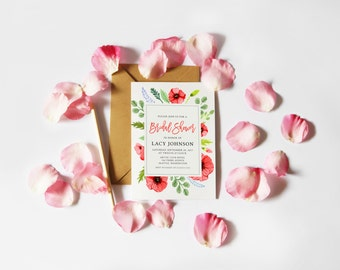 Poppy Bridal Shower Invitation (Printable File)
