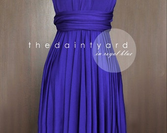 Royal Blue Bridesmaid Dress Convertible Dress Infinity Dress Multiway Dress Wrap Dress Cocktail Dress Prom Dress Evening Dress Twist Dress