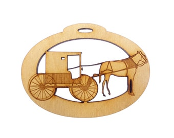 Amish Buggy Ornament - Personalized Free