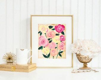 Flower Wall Art Print by Michelle Mospens - kitchen wall art, flower art, flower paintings, art prints