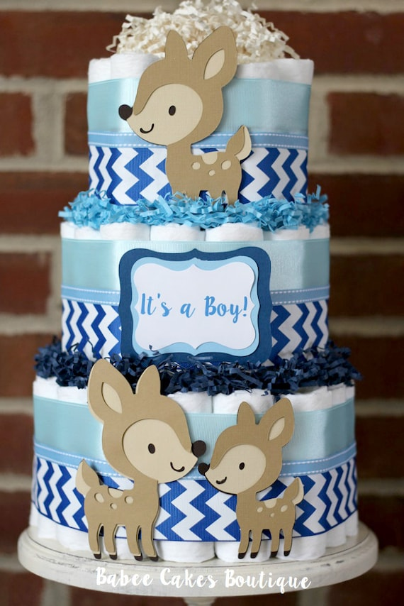 deer boys diaper cake woodland deer baby shower deer baby shower