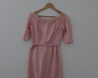 1960s Pink Mod Mini Dress