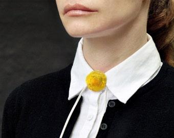 Flower  Pendant - Yellow Pendant - Venetian - Pendant - Lampwork Pendant - Urban Flowers Collection
