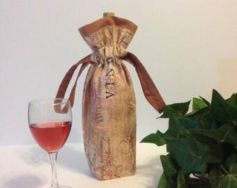 Wine Bag, Wine Gift Bag, Wine Tote, Wine Bottle Bag
