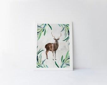 watercolor deer | etsy