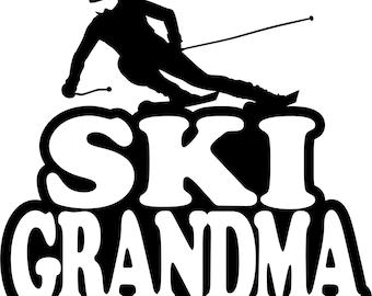 Ski Grandma Hoodie/ Ski Grandma Sweatshirt/ Ski Grandma Clothing/ Ski Grandma Gift/ Ski Grandma/ Girl Skier Ski Grandma Hoodie Sweatshirt