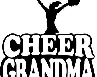 Cheer Grandma Hoodie/ Cheer Grandma Sweatshirt/ Cheer Grandma Clothing/ Cheer Grandma Gift/ Cheerleader Cheer Grandma Hoodie Sweatshirt