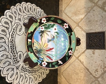 Signed, Limited Edition Collectible Plate – HUMMINGBIRD Plate- Princeton Gallery Jeremiah David Cordero