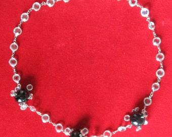 Bezel Set Crystal Necklace