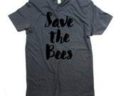 Bee tshirt - Organic Cotton Mens Save the bees Shirt - Small, Medium, Large, XL, 2XL - bee shirt - bee tee - bumble bee - honey bee - bees