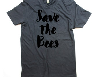 Bee tshirt - Organic Cotton Mens Save the bees Shirt - Small, Medium, Large, XL, 2XL - bee shirt - bee tee - bumble bee - honey bee - bees