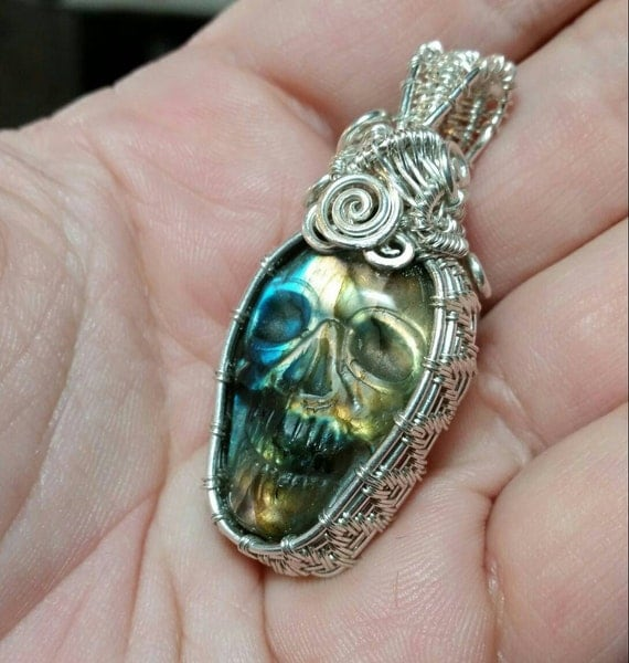 Labradorite Pendant Necklace | Silver Labradorite Necklace | Labradorite Pendant | Sterling Silver Necklace | Labradorite Jewelry | Handmade
