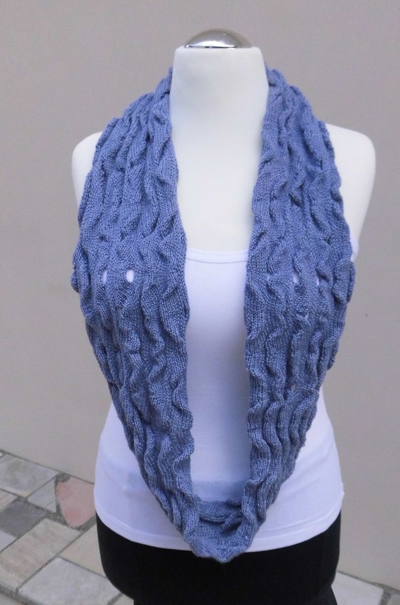 Knitting Machine Scarf Pattern : infinity scarf shawl circle shawl knitted alpaca silk
