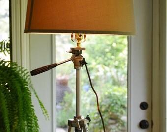 Upcycled Tripod Lamp, Repurpose Camera Tripod
