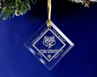 Custom Glass Cub Scout Ornament