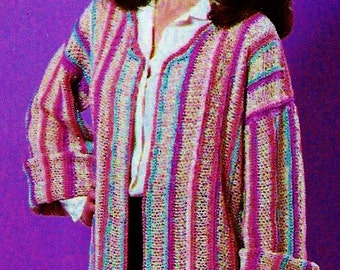 Crochet Jacket Vintage Crochet Pattern Instant Download