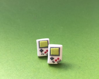 Game Controller Earrings Polymer Clay Studs, Game Control, Food Jewelry, Comic con Earrings, Geekery, Fangirl, Girl Gamer Earrings
