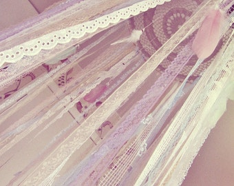 Gypsy Bed Canopy - Baby Crib Crown- Boho Nursery - Dreamcatcher Canopy - Bohemian Bedroom - Custom Design - Hippie Decor