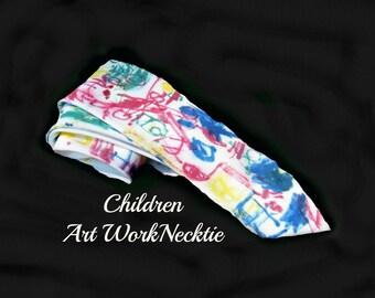 men's necktie, colorful tie, designer necktie, children art work necktie,      # 120