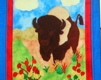 Running Bull On The Range By Katie Bramante Quilt Pattern Packet 2005