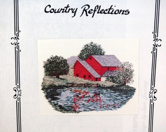 Country Reflections Across America Series By Jean Lanning And Art Ventures Vintage Cross Stitch Pattern Pattern Packet 1993