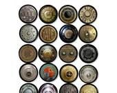 Antique Safe Dials - Dresser Knobs - Steampunk, Yale, Vintage, Rusty, Grungy, Old, Mancave, Office, Desk - Drawer Pull, Cabinet - 815Z8