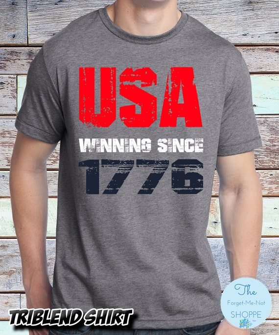 USA Winning Since 1776 ~ Tri-Blend Premium Shirt ~ USA, 4th of July, American, America, Merica